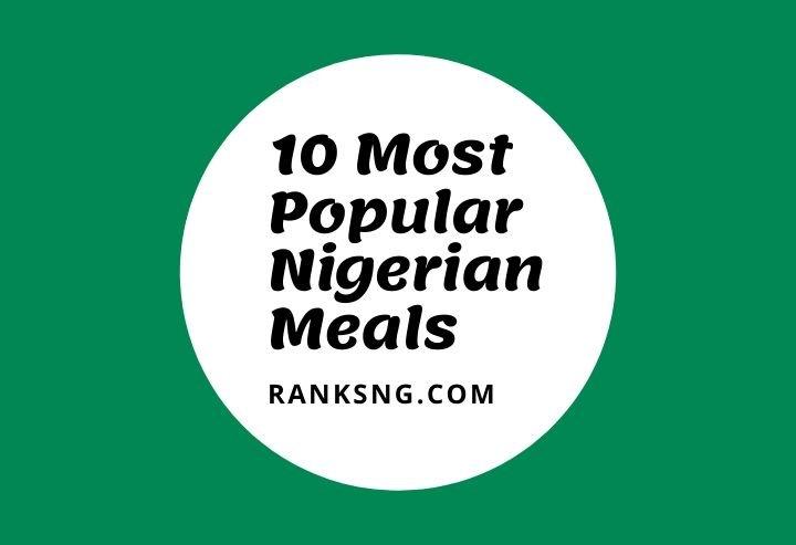 Popular African meals